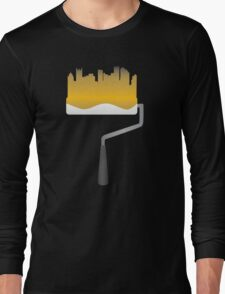 Paint Pittsburgh Black and Gold Long Sleeve T-Shirt
