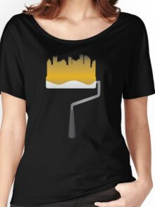 Paint Pittsburgh Black and Gold Women's Relaxed Fit T-Shirt