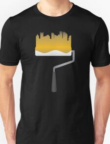 Paint Pittsburgh Black and Gold Unisex T-Shirt