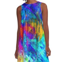 abstract  wave geometrika A-Line Dress