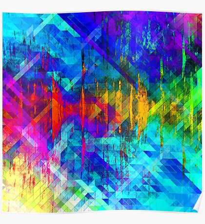 abstract  wave geometrika Poster