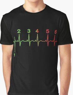 Motorcycle Heartbeat Gear Shift RPM EKG Graphic T-Shirt