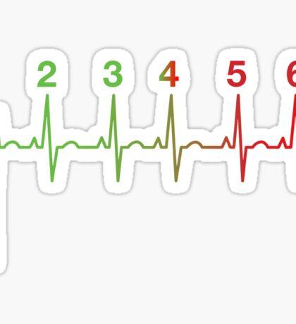 Motorcycle Heartbeat Gear Shift RPM EKG Sticker
