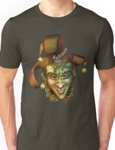 Mask Carnival Brown Gold Unisex T-Shirt