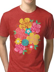 Big Summer Floral Tri-blend T-Shirt