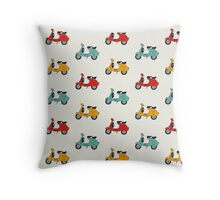 retro vespa Throw Pillow