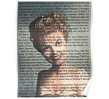 Twin Peaks Laura Palmer Portrait on Diary page Poster