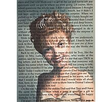 Twin Peaks Laura Palmer Portrait on Diary page Photographic Print