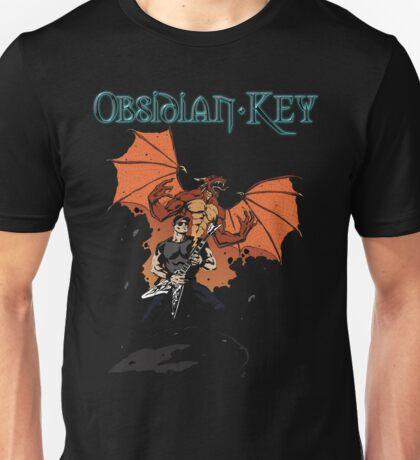 Obsidian Key - Sly Dragon and Sonic V - Progressive Rock Metal - Hand drawn Unisex T-Shirt