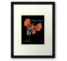 Obsidian Key - Sly Dragon and Sonic V - Progressive Rock Metal - Hand drawn Framed Print