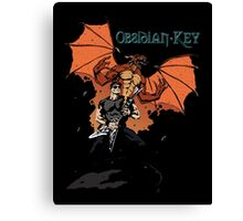 Obsidian Key - Sly Dragon and Sonic V - Progressive Rock Metal - Hand drawn Canvas Print
