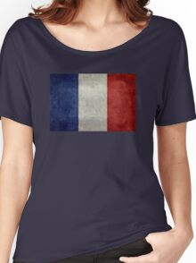 Flag of France, vintage retro style Women's Relaxed Fit T-Shirt