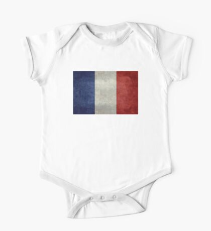 Flag of France, vintage retro style One Piece - Short Sleeve