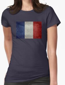 Flag of France, vintage retro style Womens Fitted T-Shirt