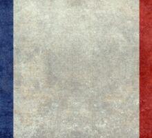 Flag of France, vintage retro style Sticker