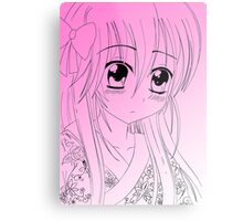 Manga Girl Metal Print