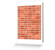 Pattern 021 Red Brick Wall, Rectangles Greeting Card