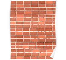 Pattern 021 Red Brick Wall, Rectangles Poster