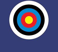 Bulls Eye, Right on Target, Roundel, Archery, on NAVY Unisex T-Shirt