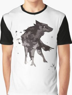Wolf Watercolor Graphic T-Shirt