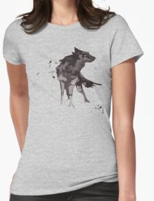 Wolf Watercolor Womens Fitted T-Shirt