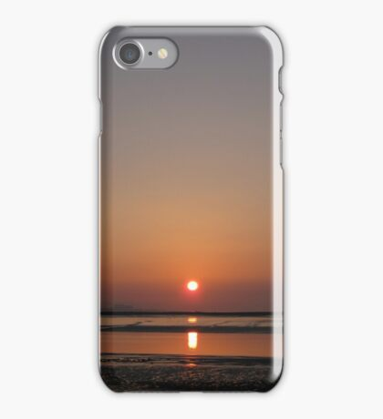 Sunset, at Burnham-On-Sea iPhone Case/Skin