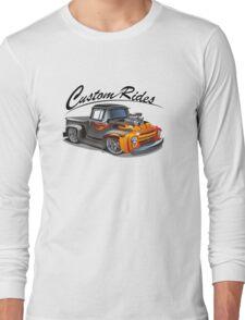 cartoon hotrod truck Long Sleeve T-Shirt