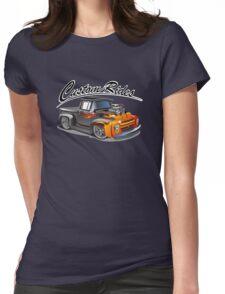 cartoon hotrod truck Womens Fitted T-Shirt