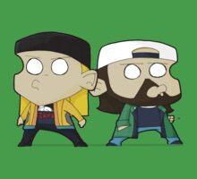 TheDandyTiger chibi style Jay & Bob One Piece - Short Sleeve