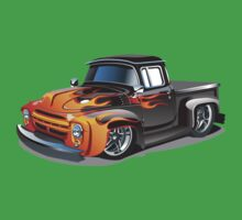cartoon hotrod truck Baby Tee
