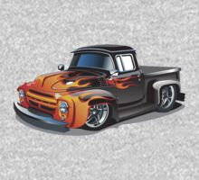 cartoon hotrod truck One Piece - Short Sleeve