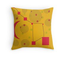yellow sky by Moma Throw Pillow