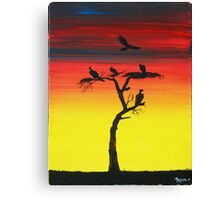 Vulture in the look out Canvas Print