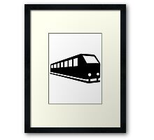 Train locomotive Framed Print