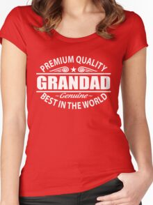 Premium Quality Grandad Shirt - Grandfather Gifts Women's Fitted Scoop T-Shirt