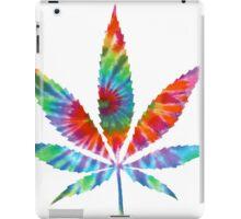Tie Dye Cannabis Leaf iPad Case/Skin