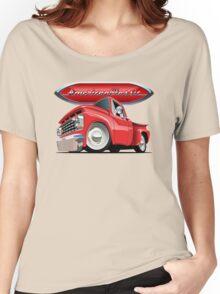 Cartoon retro pickup Women's Relaxed Fit T-Shirt