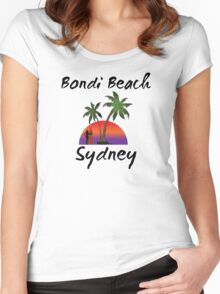 Bondi Beach Sydney Australia Women's Fitted Scoop T-Shirt