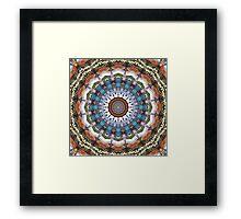 Earth Tones Mandala Framed Print