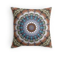 Earth Tones Mandala Throw Pillow