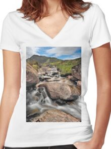 Spring Rapids Women's Fitted V-Neck T-Shirt