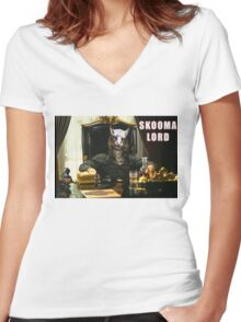 Skooma Lord (Skyrim) Women's Fitted V-Neck T-Shirt