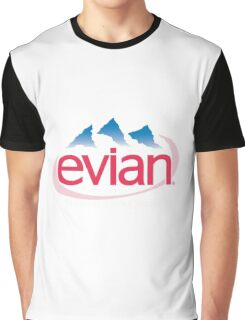Evian Logo Graphic T-Shirt