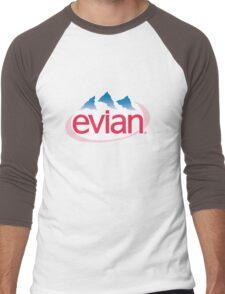 Evian Logo Men's Baseball ¾ T-Shirt
