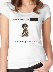 -MUSIC- Ready To Die Cover Women's Fitted Scoop T-Shirt
