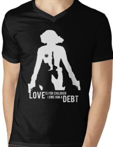 Love Is For Children. I Owe Him A Debt. Mens V-Neck T-Shirt