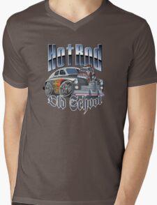 cartoon hot rod Mens V-Neck T-Shirt