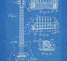 Gibson Les Paul  guitar us patent 1955 by Steve Chambers