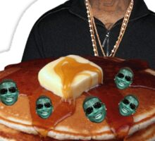 TRANSPARENT GUCCI MANE GIVING YOU BLUEBERRY GUCCI MANE PANCAKES FOR YOU Sticker