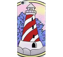 lighthouse and ocean circle iPhone Case/Skin
